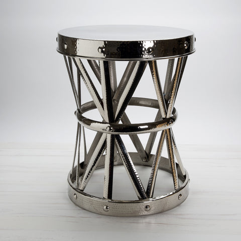 Hammered Nickel Garden Stool