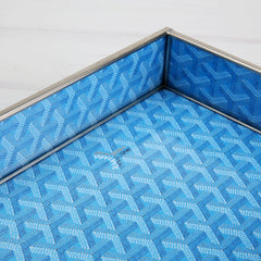 Goyard Inspired Tray in Blue