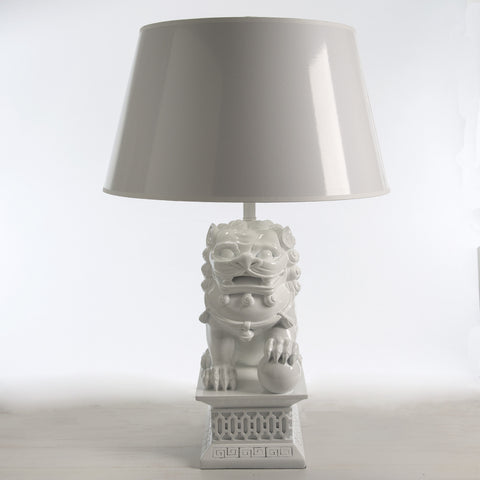 Foo Dog Lamp & Shade
