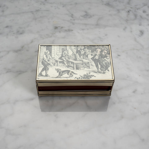 The Parisian Toile Matchbox Cover