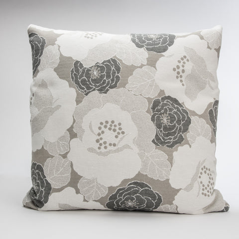 Grey Floral Pillow