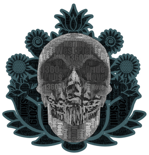 artist-anon,2019 Brighton Skull Sticker,Stickers