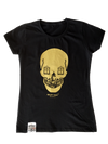 artist-anon - 2012 Women's Gold Skull - T-Shirt