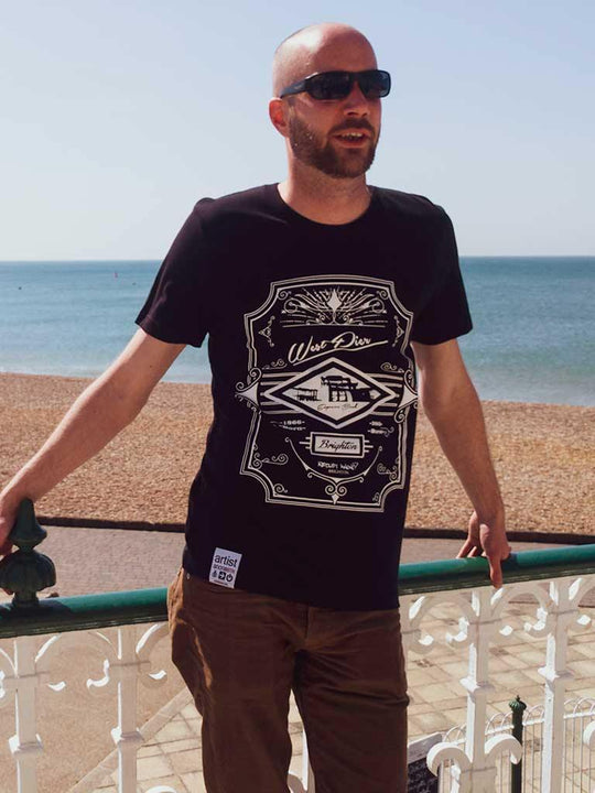 2017 West Pier, T-Shirt - Artist Anon Brighton Clothing