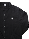 Artist Anon Classic Long Sleeved Black Denim Shirt - Shirt - Crest Collection - Artist Anon Brighton