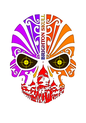 artist-anon,2015 Brighton Skull Sticker,Stickers