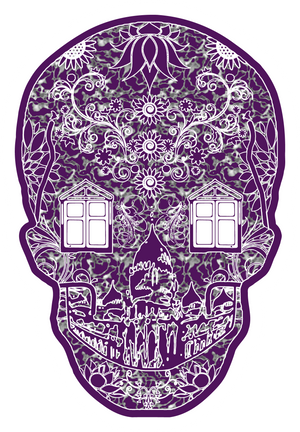 artist-anon,2018 Brighton Skull Sticker,Stickers