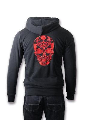 artist-anon,Brighton Skull Embroidered Sherpa Hoodie,hoodie