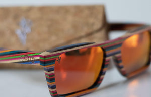 Artist Anon Brighton - Allsorts Candy Wood Woodie Sunglasses - Sunglasses - Bamboo
