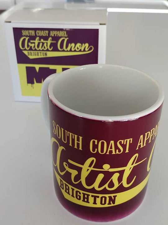 Artist Anon Mug, Mugs - Artist Anon Brighton Clothing