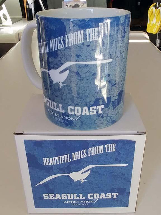 Seagull Coast Mug, Mugs - Artist Anon Brighton Clothing