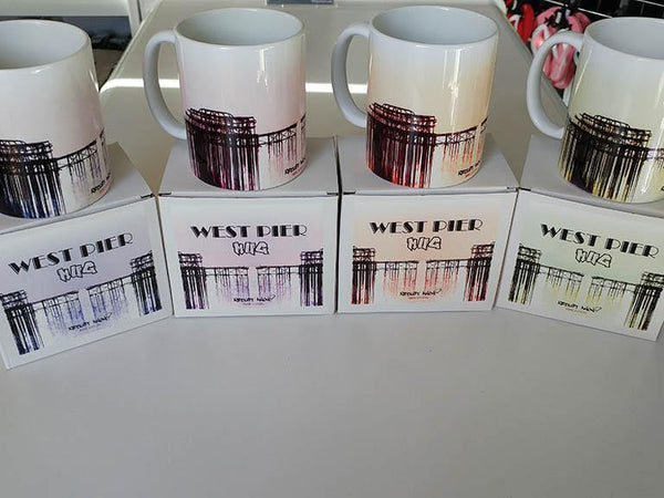 West Pier Mug, Mugs - Artist Anon Brighton