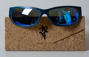 Artist Anon Brighton - Blue Vibe Wrap  Around Bamboo Sunglasses - Sunglasses - Bamboo