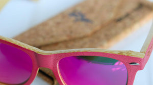 Artist Anon Brighton - Candy Floss Bamboo Sunglasses - Sunglasses - Bamboo