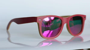 Candy Floss Bamboo Sunglasses - Sunglasses - Bamboo - Artist Anon Brighton