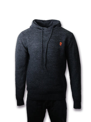 Artist Anon Brighton - Artist Anon Knitted Hoodie - hoodie - Crest Collection, Hoodie, Men's