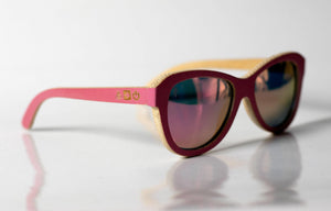 Flamingo Bamboo Sunglasses - Sunglasses - Bamboo - Artist Anon Brighton