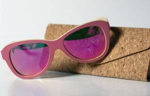 Artist Anon Brighton - Flamingo Bamboo Sunglasses - Sunglasses - Bamboo