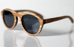 Heritage Zebra Wood Sunglasses - Sunglasses - Bamboo - Artist Anon Brighton