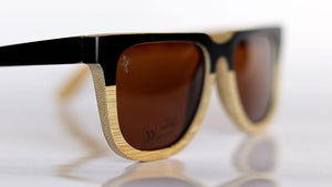 High Brow Bamboo Sunglasses - Sunglasses - Bamboo - Artist Anon Brighton