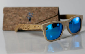 Artist Anon Brighton - Plainly Blue Bamboo Sunglasses - Sunglasses - Bamboo