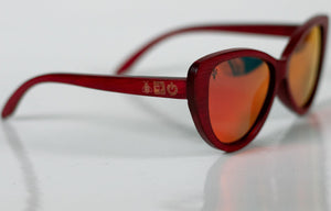 Ruby Red Bamboo Sunglasses - Sunglasses - Bamboo - Artist Anon Brighton