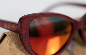 Artist Anon Brighton - Ruby Red Bamboo Sunglasses - Sunglasses - Bamboo