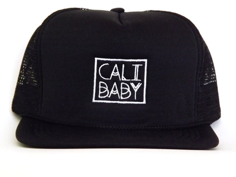 Cali Baby Original Black Infant and Toddler Trucker Hat
