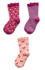 Richer Poorer Girls' Socks 3-pack