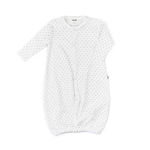 Convertible Jumper-White/Indigo Dots