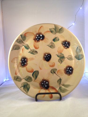 Beaumont Brothers Pottery Sunflower Plate 9.5""