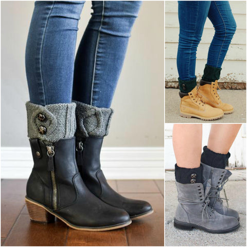 How to Wear Boot Cuffs & Socks with Short Boots this Fall ...