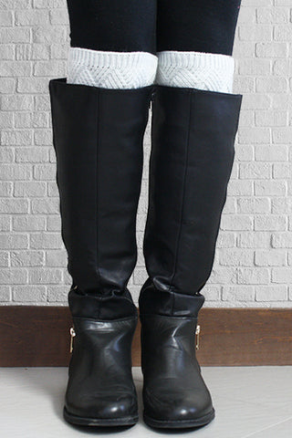 Pearl Metallic Diamond Pattern Boot Cuffs