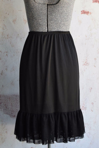 Black Half Slip Dress Extender