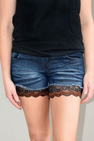 Black Lace Thigh Cuff Extenders