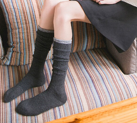 Charcoal and Grey Boot Socks