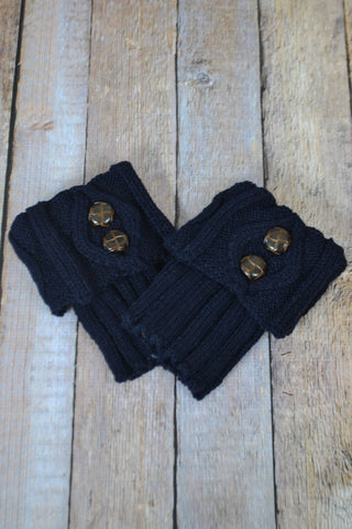 Navy Blue Two Button Boot Cuffs