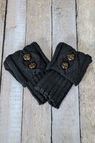 Dark Coffee Bean Two Button Boot Cuffs