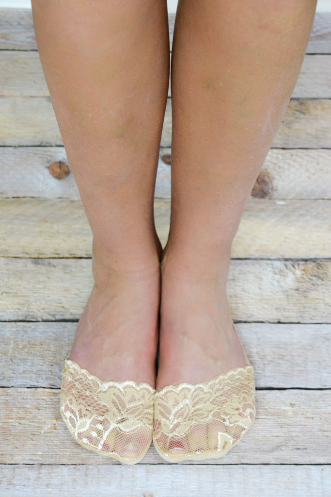 Natural Lace Peep Socks