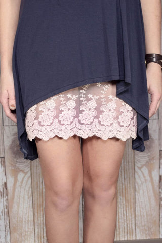 Plus Size Blush Lace Dress Extender