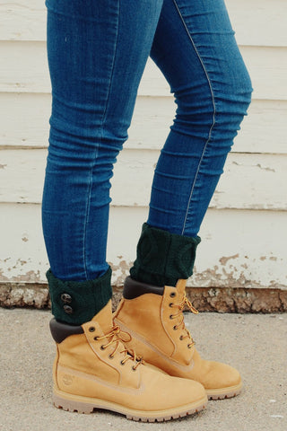 Deep Green Two Button Boot Cuffs