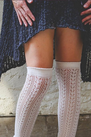 Colorado Cream Knit Thigh High Boot Socks (*NEW*)