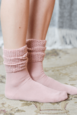 Rose Ruffle Ankle Socks