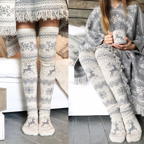 Over-the-Knee Winter Snowflake Boot Socks  ((NEW))
