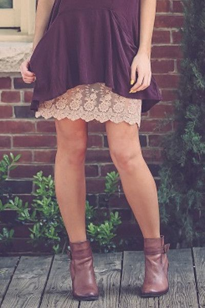Almond Lace Dress Extender