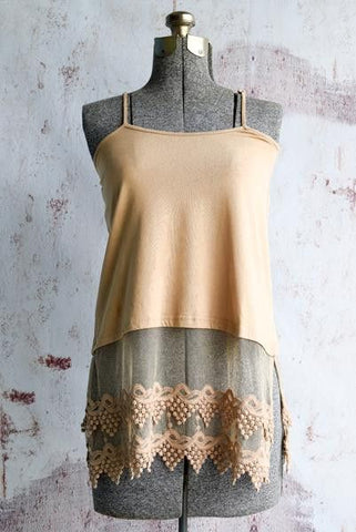Plus Size Almond Pointed Lace Top Extender