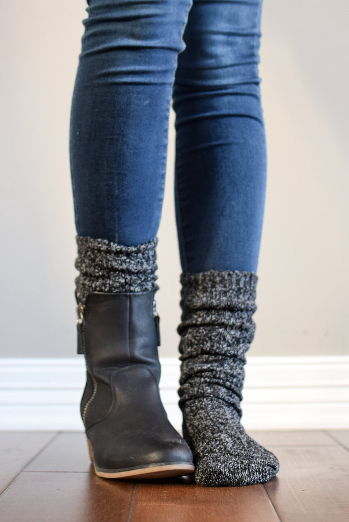 Harvest Charcoal Peppered Boot Sock