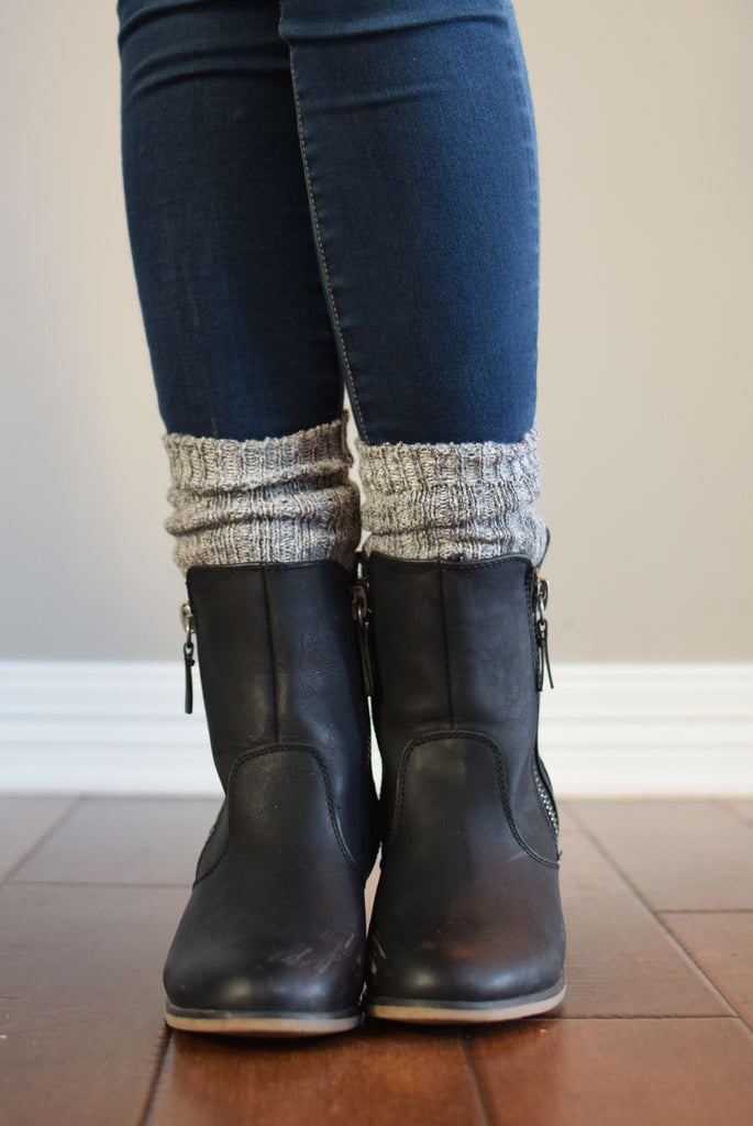 Harvest Grey Peppered Boot Sock