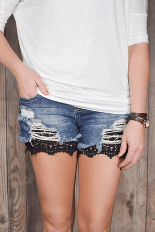 Black Lace Shorts Extenders