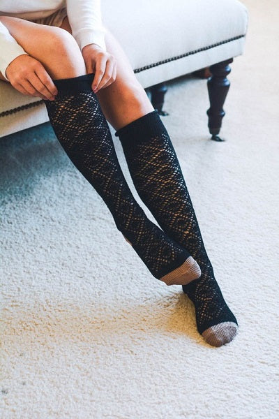 Knee High Patterned Boot Socks  ((NEW))